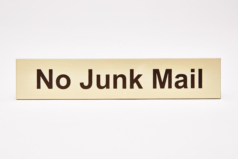 No junk mail; gold