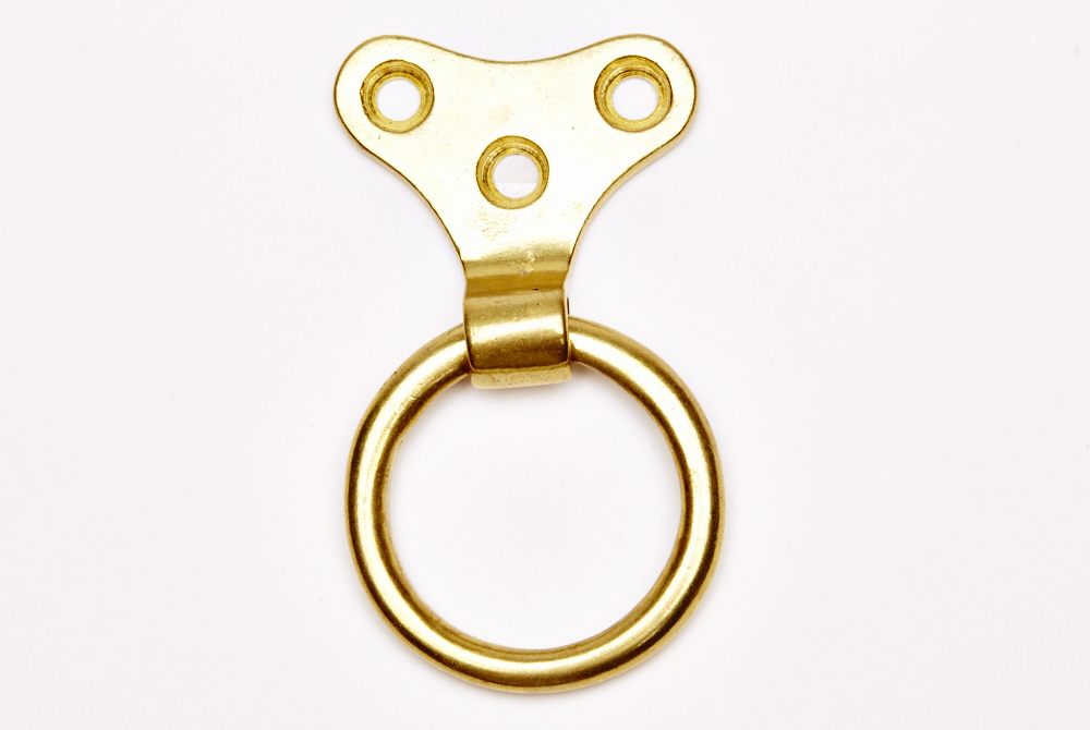 Brass plate ring