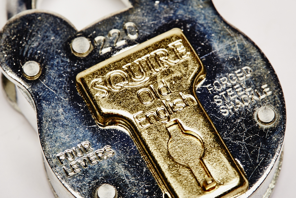 Old English padlock