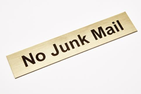 No junk mail; gold