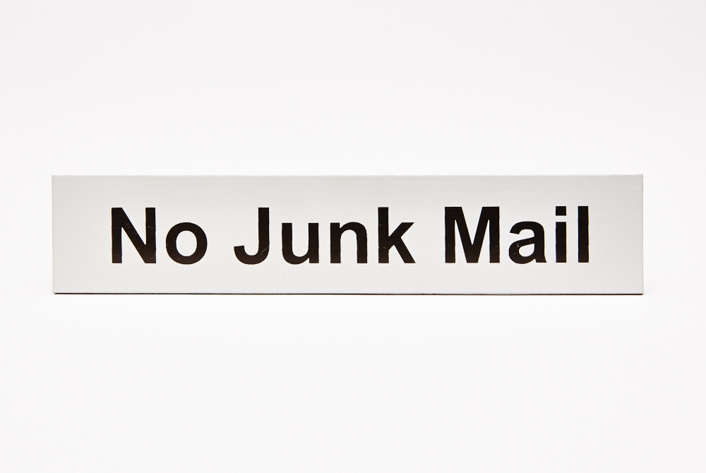 No Junk Mail Silver