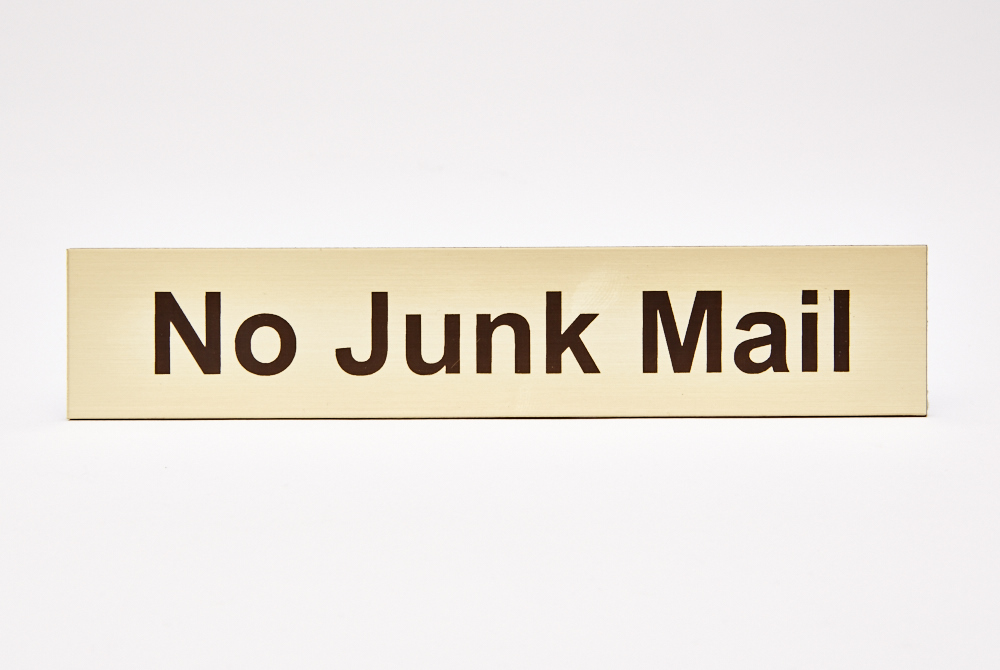 No Junk Mail Gold