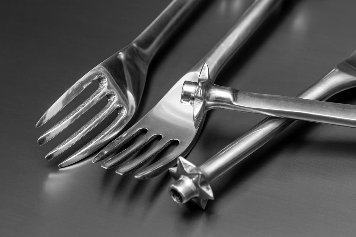 Fork Candles metal