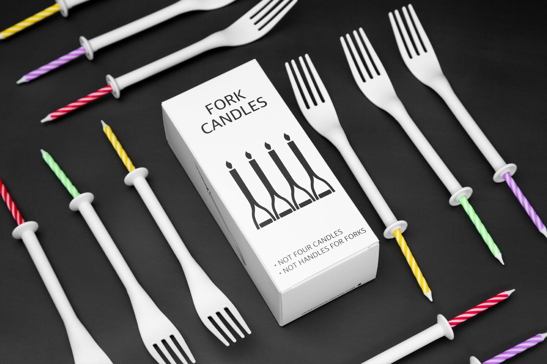 Fork Candles Plastic