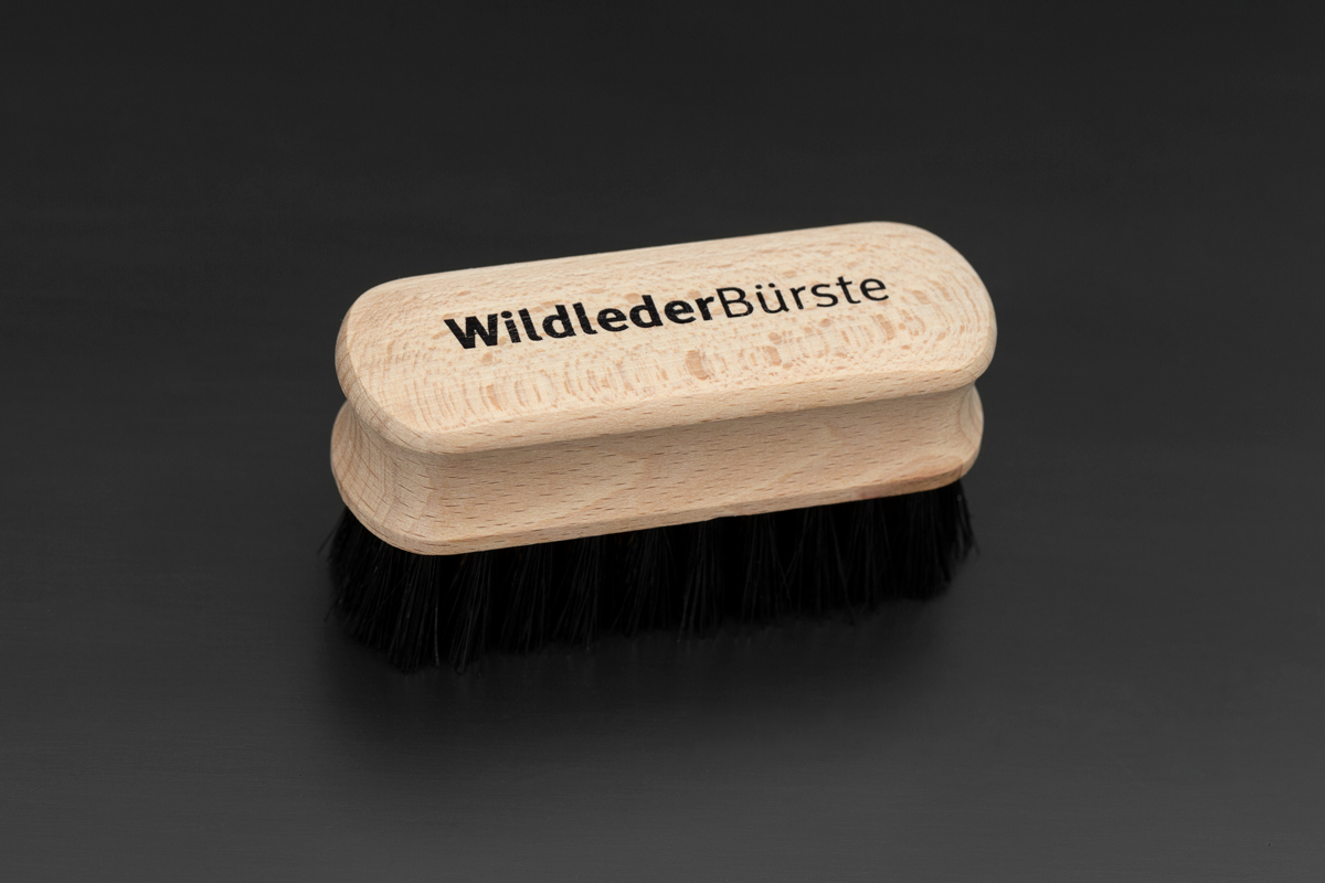 Small Brass Suede Brush