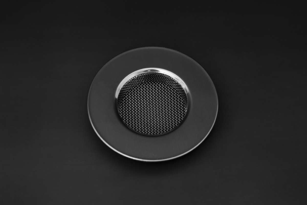 Stainless sink strainer